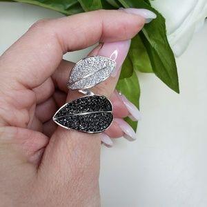 Leaf Sterling silver ring